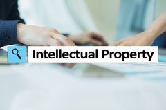 Intellectual property rights. Patent. Business, internet and technology concept. Intellectual property rights. Patent. Business, internet and technology concept Stock Photos