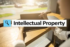 Intellectual property rights. Patent. Business, internet and technology concept. royalty free stock photography