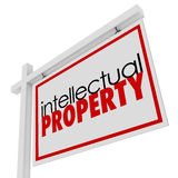 Intellectual Property For Sale Sign Advertising Licensing Origin Royalty Free Stock Images