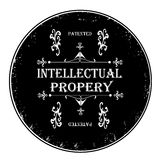 Intellectual property stamp. Black rubber stamp, intellectual property vector illustration Stock Photos