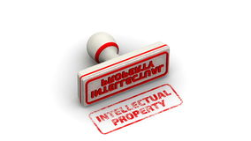 Intellectual property. Stamp leaves a imprint stock video