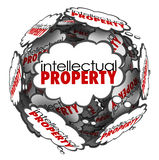 Intellectual Property Thought Clouds Creative Ideas Protected Co Stock Photos