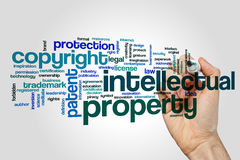 Intellectual property word cloud. Concept Stock Photography