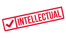 Intellectual rubber stamp Royalty Free Stock Photography