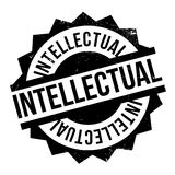 Intellectual rubber stamp Royalty Free Stock Images