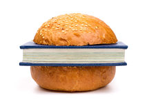 Intellectual sandwich Royalty Free Stock Image