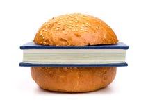Intellectual sandwich Royalty Free Stock Image