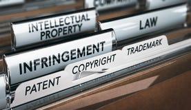 Intellectuele-eigendomsrechten, Copyright, Octrooi of Handelsmerk Inf Royalty-vrije Stock Foto
