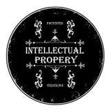 intellectuele eigendomzegel Stock Foto's