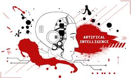 Intelligence artificielle illustration de vecteur
