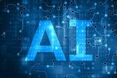 Intelligence artificielle illustration stock