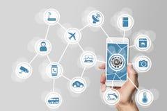 Intelligence artificielle (AI) de contrôler l'Internet de tout réseaux (IOT) Photographie stock libre de droits