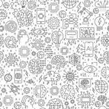 Intelligence artificielle AI et bannière ou fond de site Web de technologie d'apprentissage automatique Photos stock