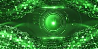 Intelligence artificielle dans le réseau global Technologies numériques de l'avenir Contrôle d'esprit d'ordinateur illustration stock