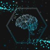 Intelligence artificielle de cerveau illustration libre de droits