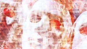 Intelligence artificielle de grandes données, métaphore de technologie de code binaire illustration stock