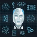 Intelligence artificielle de robot illustration libre de droits