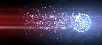 Intelligence artificielle Fond de Web de technologie Concentré virtuel Image libre de droits
