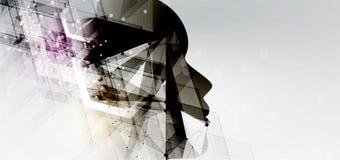 Intelligence artificielle Fond de Web de technologie Concentré virtuel Photographie stock libre de droits