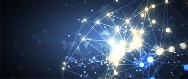 Intelligence artificielle Fond de Web de technologie Concentré virtuel Image stock