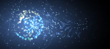 Intelligence artificielle Fond de Web de technologie Concentré virtuel Photo libre de droits