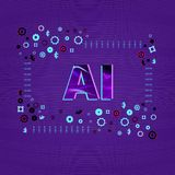 Intelligence artificielle Lettres d'AI Illustration de vecteur illustration libre de droits