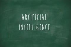 Intelligence artificielle manuscrite sur le tableau noir Photo libre de droits
