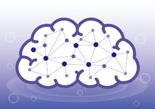 Intelligence artificielle ou intérieur l'image d'esprit humain illustration stock