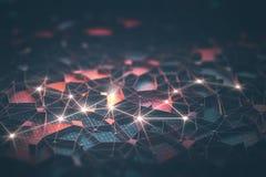 Intelligence artificielle/réseau neurologique illustration libre de droits