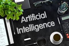 Intelligence artificielle sur le tableau noir rendu 3d Image libre de droits