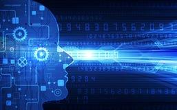 Intelligence artificielle Technologie numérique d'AI à l'avenir Concept virtuel Fond d'illustration de vecteur