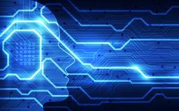 Intelligence artificielle Technologie num?rique d'AI ? l'avenir Concept virtuel Fond d'illustration de vecteur