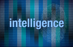 Intelligence Binary digital Royalty Free Stock Images