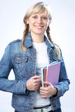 Intelligence blonde student Royalty Free Stock Photo
