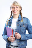 Intelligence blonde student Royalty Free Stock Photos