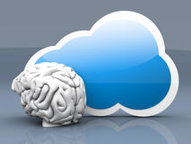 Cloud intelligence royalty free illustration