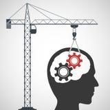 Intelligence concept. Stock illustration. Royalty Free Stock Photos