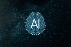 Intelligence d'AIArtificial de concept R?seaux neurologiques, machine et ?tude profonde