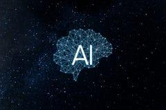 Intelligence d'AIArtificial de concept illustration stock