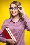Intelligence female student. Royalty Free Stock Image