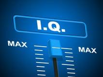 Intelligence Iq Indicates Brain Power And Acumen Stock Photo