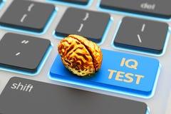 Intelligence level measurement app, IQ test concept Royalty Free Stock Image