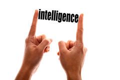 Less intelligence metaphor Stock Image