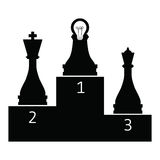 Intelligence pawn Royalty Free Stock Images