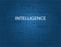 Intelligence, Typography Background Stock Images