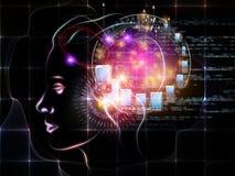 Intelligence virtuelle Photographie stock libre de droits