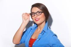 Intelligence woman. Royalty Free Stock Photo