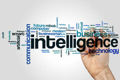 Intelligence word cloud stock images