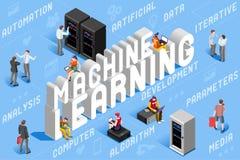 Intelligens för illustration för lära för maskin konstgjord vektor illustrationer