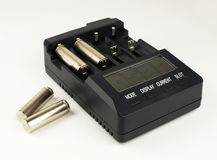 Intelligent accumulator battery charger Royalty Free Stock Images